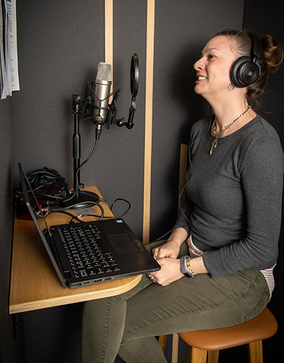 Kelly podcasting